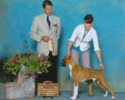 Riddyck's championship under judge Ole Nielsen with Bonnie handling.